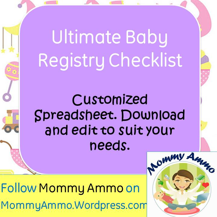 Ultimate Baby Registry Shopping Checklist  Customizable Printable